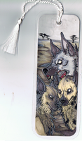 hyena bookmark by Anklebones