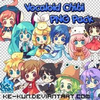 PNG Pack Vocaloid Anime Chibi by Ke-kun