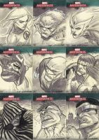 Marvel Masterpieces III Set 2 by jeffwamester