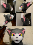 Glameow Fursuit Head by Feathery-Wings