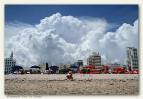 Thunderstorms over Miami Beach by bartdebruyn