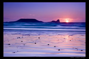 Gower Sunset I by ACPhotography