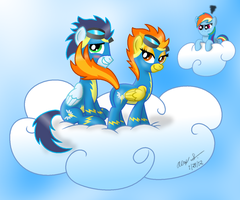 Spitfire flirting with Soarin outfitted edition by AleximusPrime
