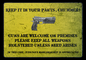 Shadowrun Concealed Carry Gun Sign by Iridias89