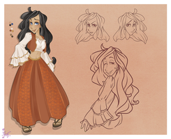 :: Commission August 13: Character Sheet :: by VioletKy