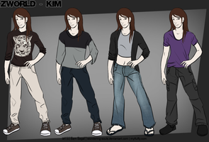 ZW Ref Sheet - Kim by wondering-souls