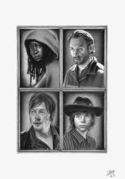 The Walking Dead Hero's by LittleRamona