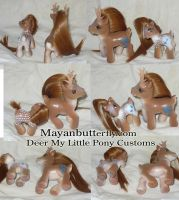 Deer Custom My Little Pony Set by mayanbutterfly