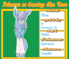 .:Blue The Glaceon:. by CinnamonCreampuff