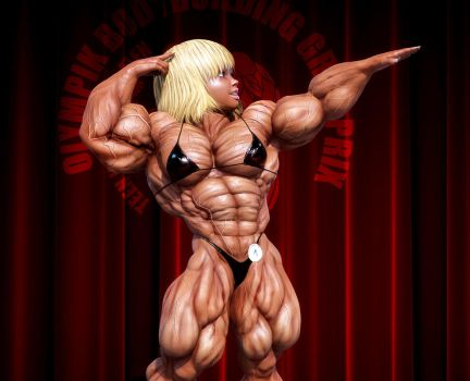 Denise Posing by lolimuscle