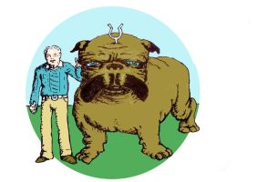 Jack kirby and lockjaw by lancgodwin