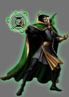 Green Lantern Dr Strange by Lord-Lycan