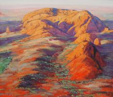 Outback Olgas Australia by artsaus