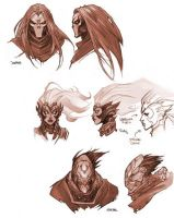 Darksiders All Four HoresMen Heads by CorruptedDeath