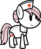 Paper Nurse Redheart by FinePrint-MLP