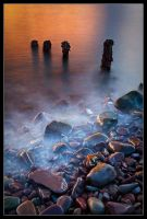 Porlock Weir Groyne by Wivelrod