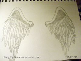 Angel Wings Drawn by Me. by Gothic-Rebel