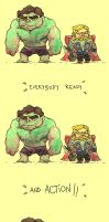 Movie Time::The Hulk and Thor by KetsuoTategami
