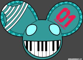 Deadmau5 Miku Head by oogaboogus