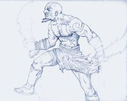 kratos in the works... by dreno360