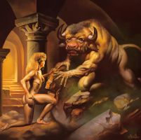 Minotaur with Smoke by Signore-delle-Ombre