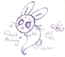 Easter ghost bunny by Kittychan2005