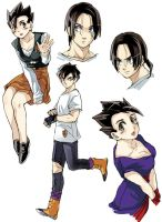 Female Gohan and Male Videl by pinki100