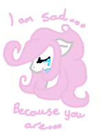 i am sad...because you are sad.. by ForeverJackal