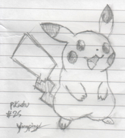 Yingpingu: Pencil'd Pikachu by Yingpingu