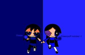 Powerpuff-number-1 and Tristan by cupcakemadness237