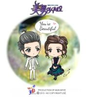 Yab Chibi Minam and Taekyung by Mun-Whye