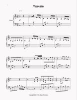 Wakare Sheet Music p1 by ShearNonsense