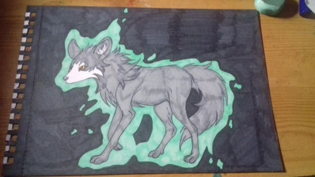 Another old wolf drawing  by Broken-Copperpot073