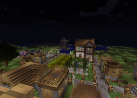 My Minecraft Village 1 by DPrime123