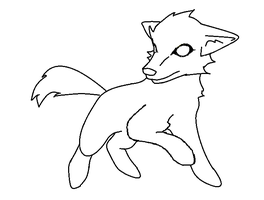 wolf lineart by Faustina13