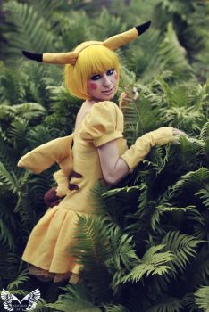 A wild Pikachu appeared! by AshtrayheartRomina
