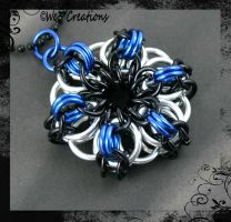 Celtic Spikes Pendant in Silver/Black/Blue by kelleejm1