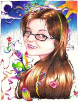 Self Portrait - Colored by anime-erin