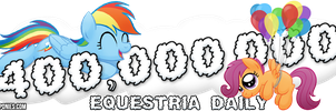 'Flying Lessons' Banner for Equestria Daily by drawponies