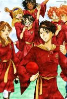 Gryffindor Quidditch Team by Alkanet