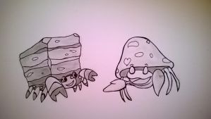 Crustle and Parasect best friends