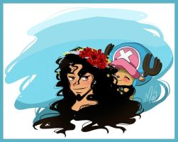 Usopp and Chopper on a summer day by WhistlingWolf13