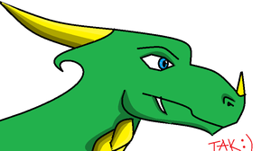 My first MSPaint Dragon :D by Takato14