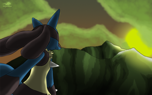 Lucario's Sunset Revamp by Dragon-Minded