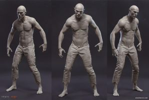 State Zero: Vamp Clay Render by energise