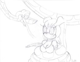 Kaa and Vanilla redraw sketch by lol20