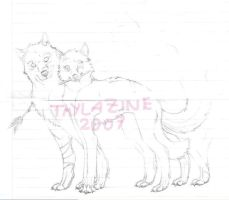 Suffering wolves by Thylazine