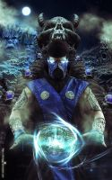Leon Chiro as Sub-Zero Cosplay Mortal Kombat 9 by LeonChiroCosplayArt