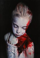 Disasters of war after Gottfried Helnwein by KaradjinovicMarko