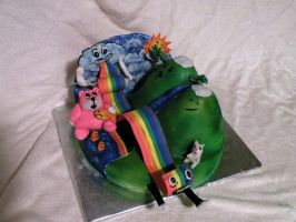 Rainbow Pasta: Threadcake 2011 by cake-engineering